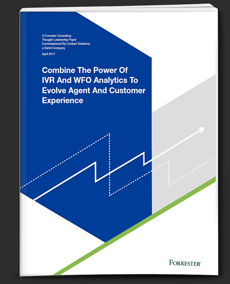 Forrester IVR and WFO Analytics study