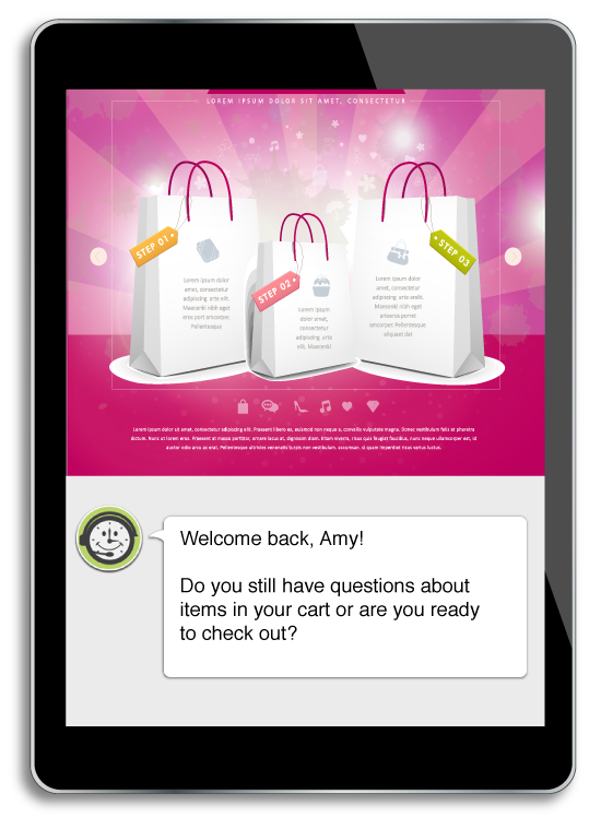 Maintain context for online shopping on smartphones, tablets, and laptops