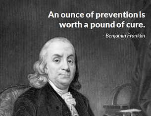 Benjamin Franklin's cool with an ounce of fraud prevention too!