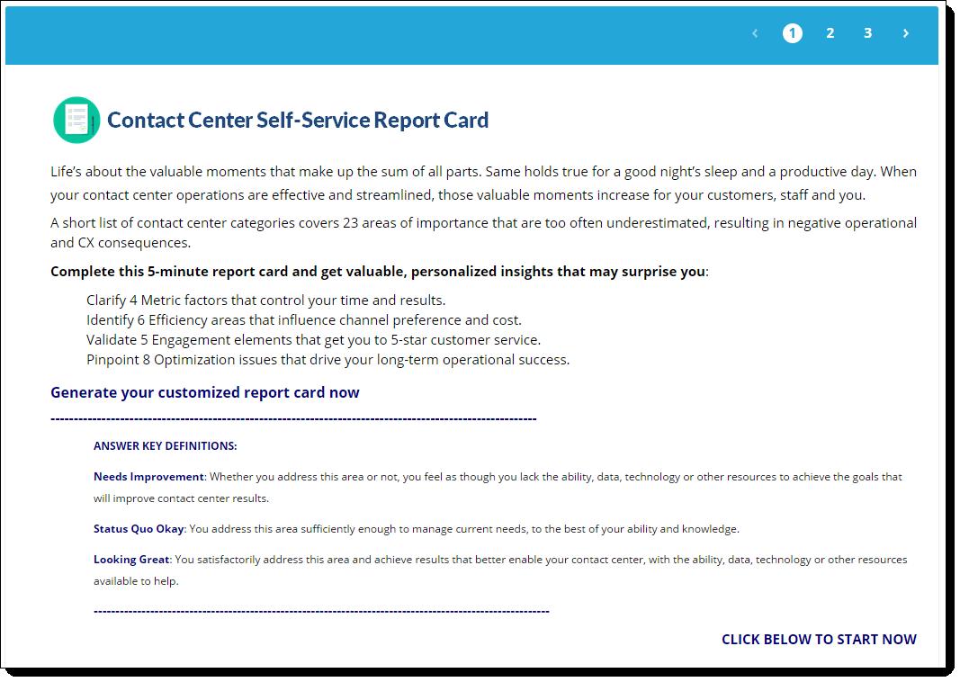 self-service report card survey