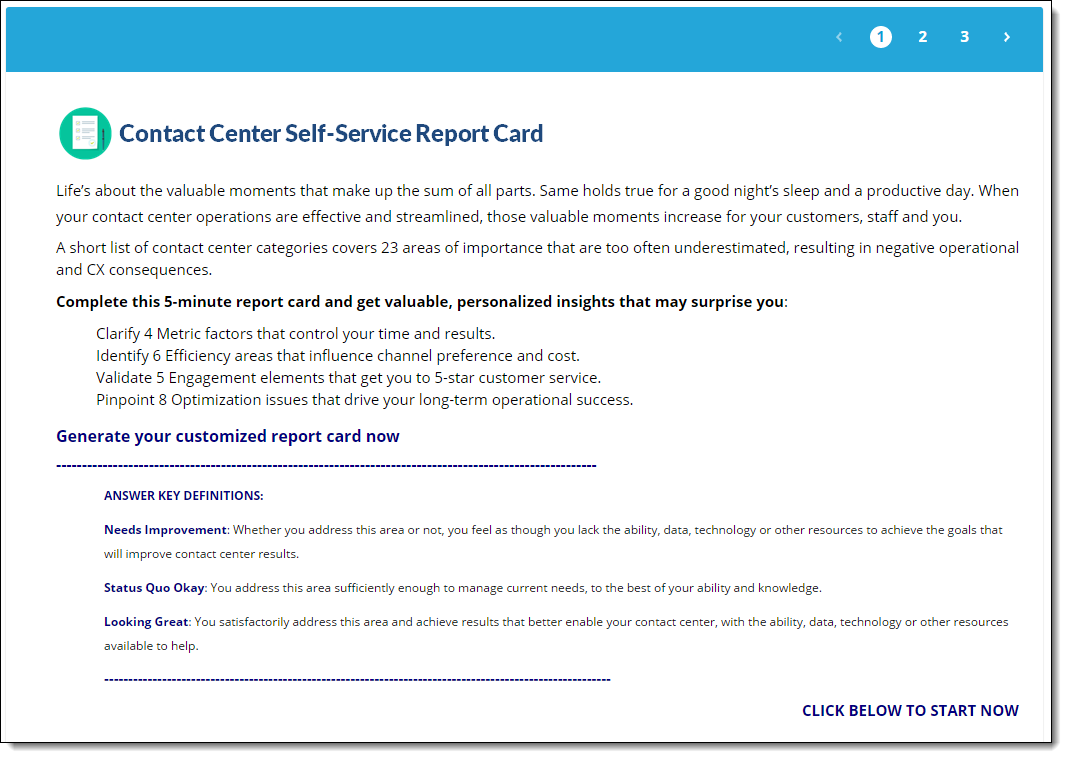 self-service report card survey