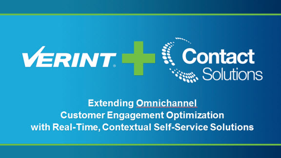 Verint and Contact Solutions merge