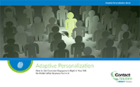 Adaptive Personalization - Personalized IVR