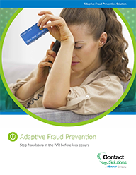 Adaptive Fraud Prevention - Prevent Fraud in the IVR